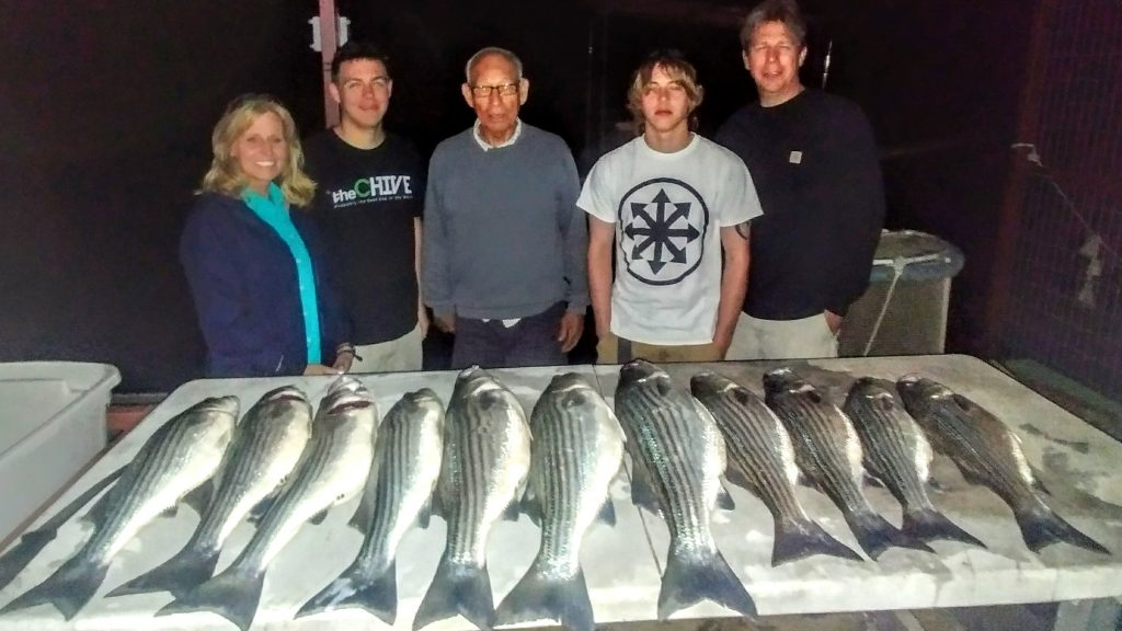 jigging for stripers